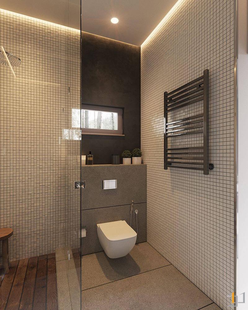 simple-grey-and-black-panelling-Scandinavian-bathroom