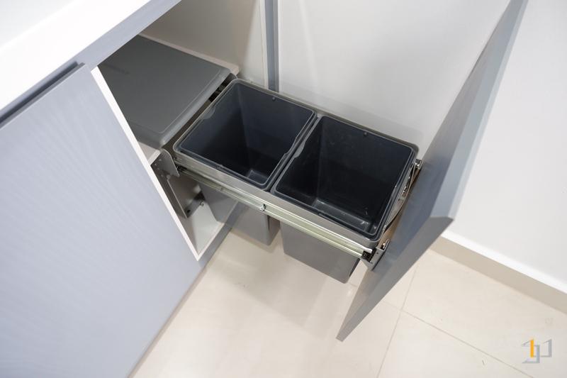 Thùng rác tủ bếp duplex