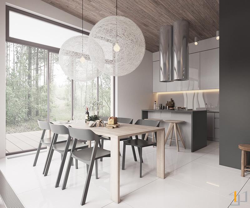 white-woollen-chandeliers-Scandinavian-dining-room