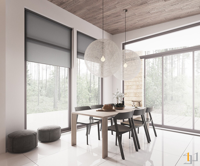 wooden-table-concrete-grey-chairs-Scandinavian-dining-room