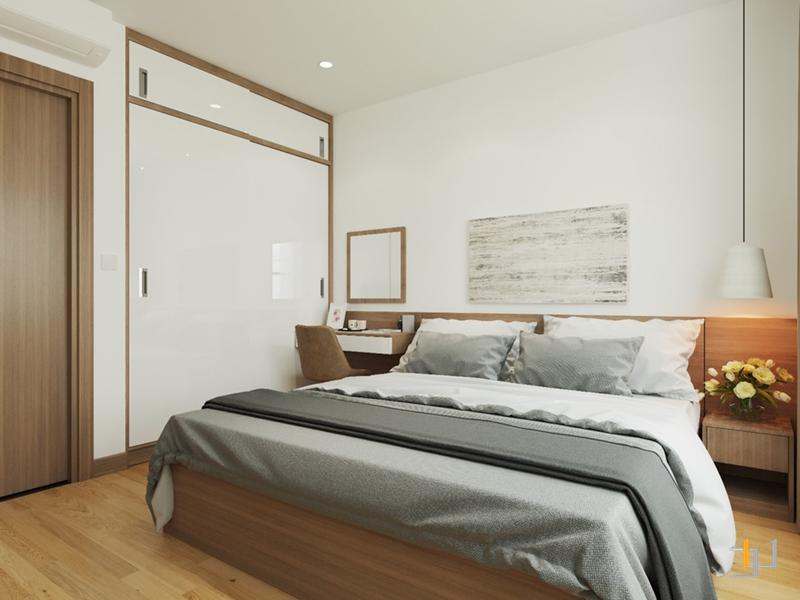 Nội thất phòng ngủ Master theo phong cách Japandi