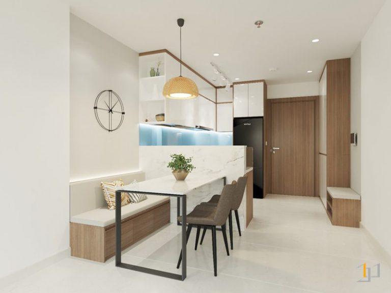 Thiết kế phòng ăn căn hộ 2 phòng ngủ