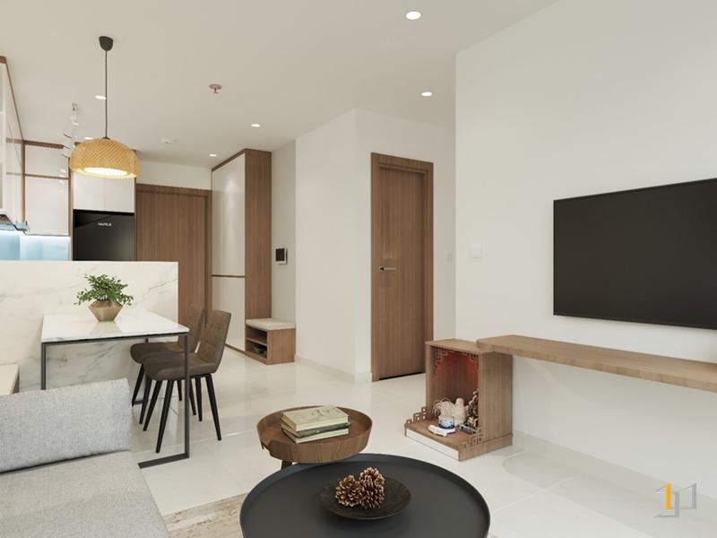 Nội thất gỗ phòng khách đẹp mắt