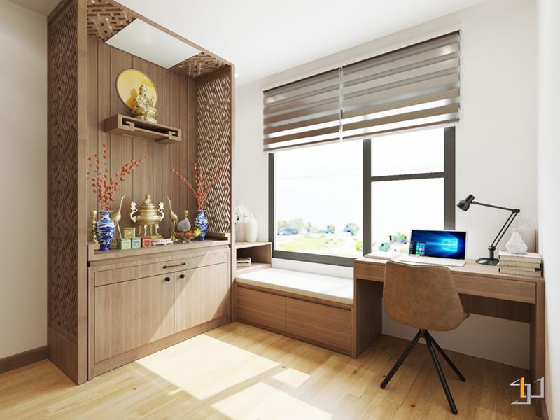 Thiết kế nội thất windowseat và bàn đọc sách
