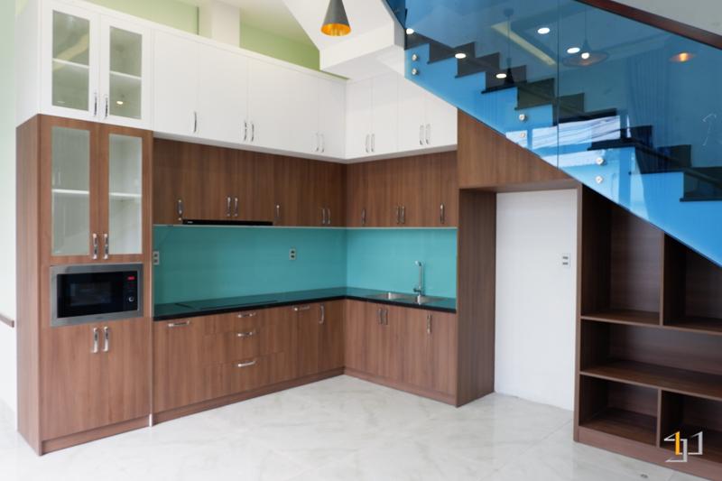Thiết kế tủ bếp nhà phố