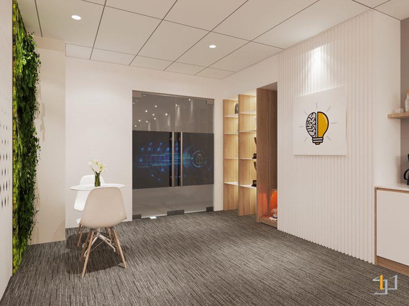 Thiết kế phòng chờ của khách hàng khu vực cửa chính