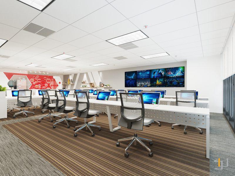 Thiết kế phòng làm việc không gian rộng