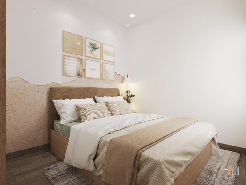 Phòng ngủ với gam màu trung tính