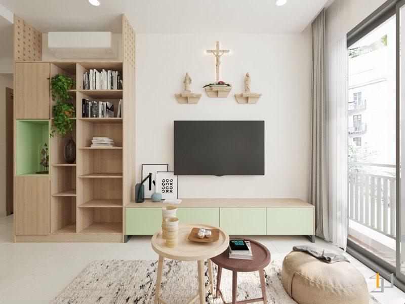Thiết kế nội thất khu vực phòng khách