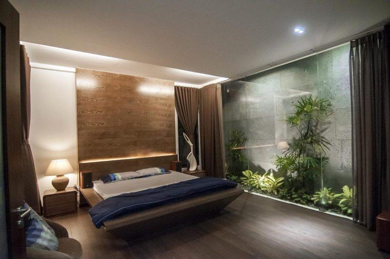 Thiết kế nội thất không gian xanh cho phòng ngủ