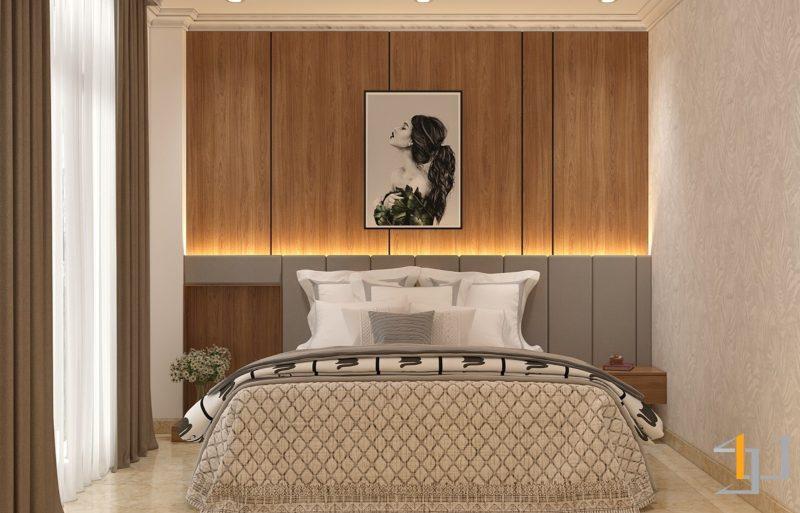 Thiết kế nội thất phòng ngủ Master cho nhà phố