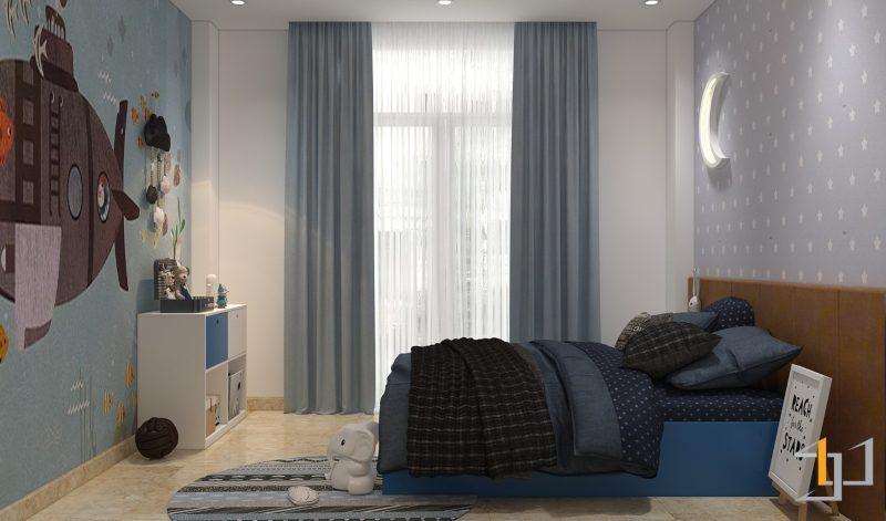 Trang trí phòng ngủ bé trai đẹp