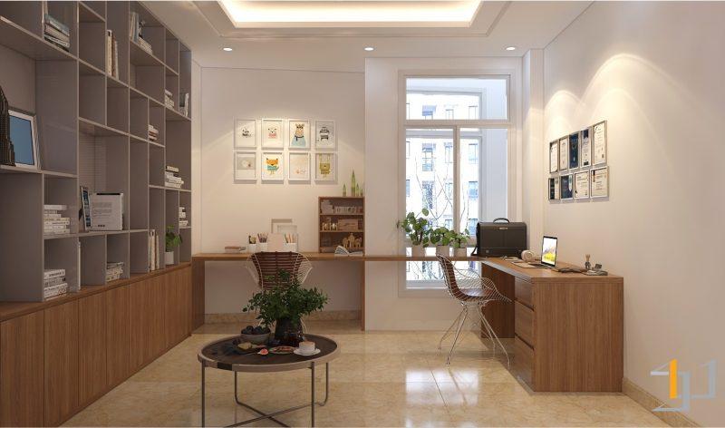 Thiết kế nội thất phòng làm việc hiện đại