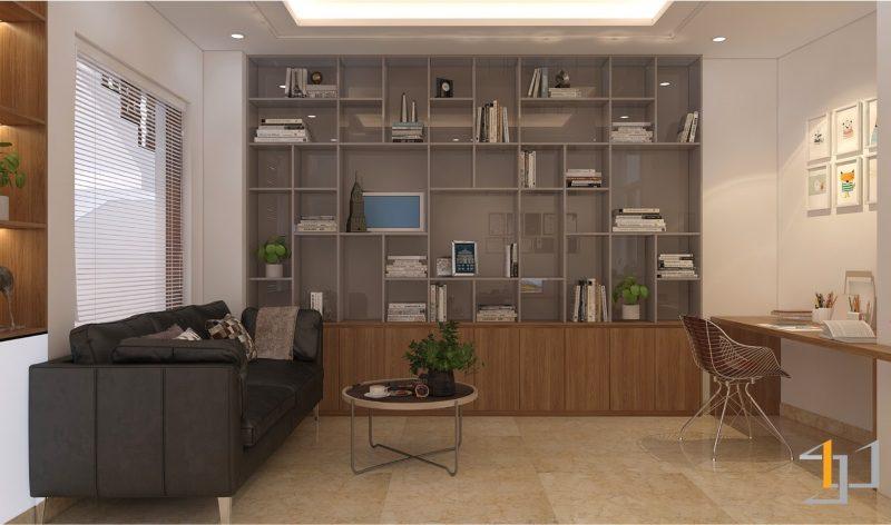 Thiết kế tủ âm tường cho phòng làm việc