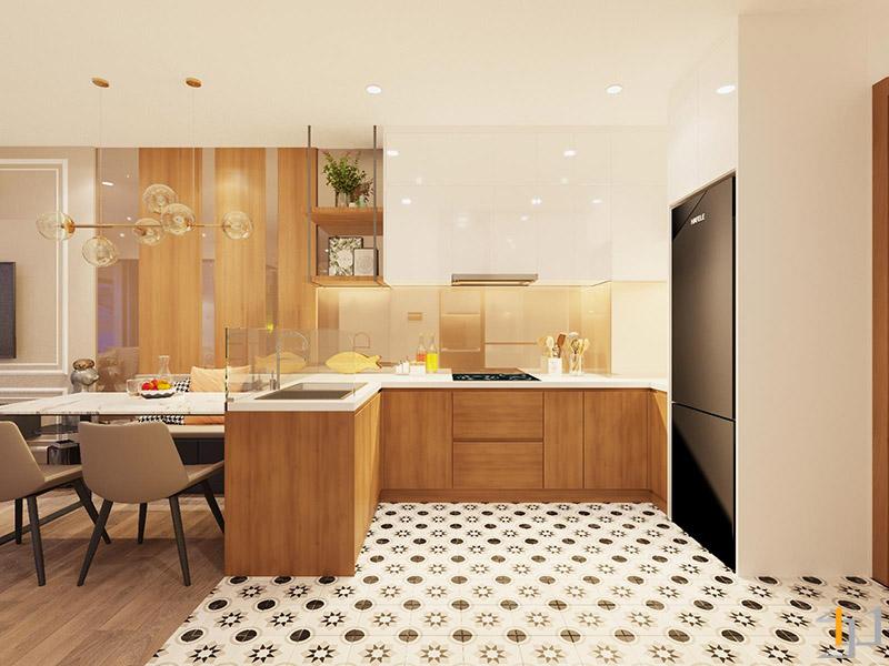 Thiết kế thi công nội thất không gian bếp căn hộ