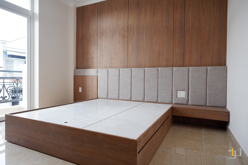 Thi công nội thất hoàn thiện phòng ngủ Master