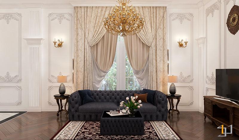 thiết kế nội thất biệt thự cổ điển đẹp