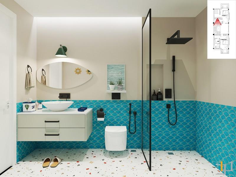thiết kế phòng tắm biệt thự quý phái
