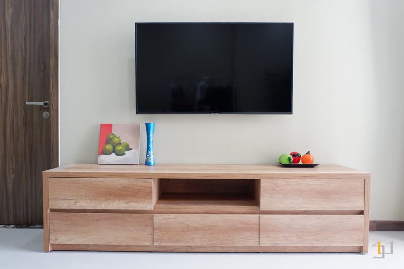 Tủ ti vi gỗ công nghiệp phòng khách