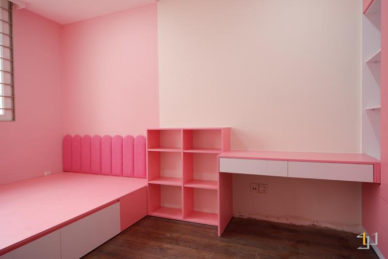 Thi công phòng ngủ con gái căn hộ 3PN