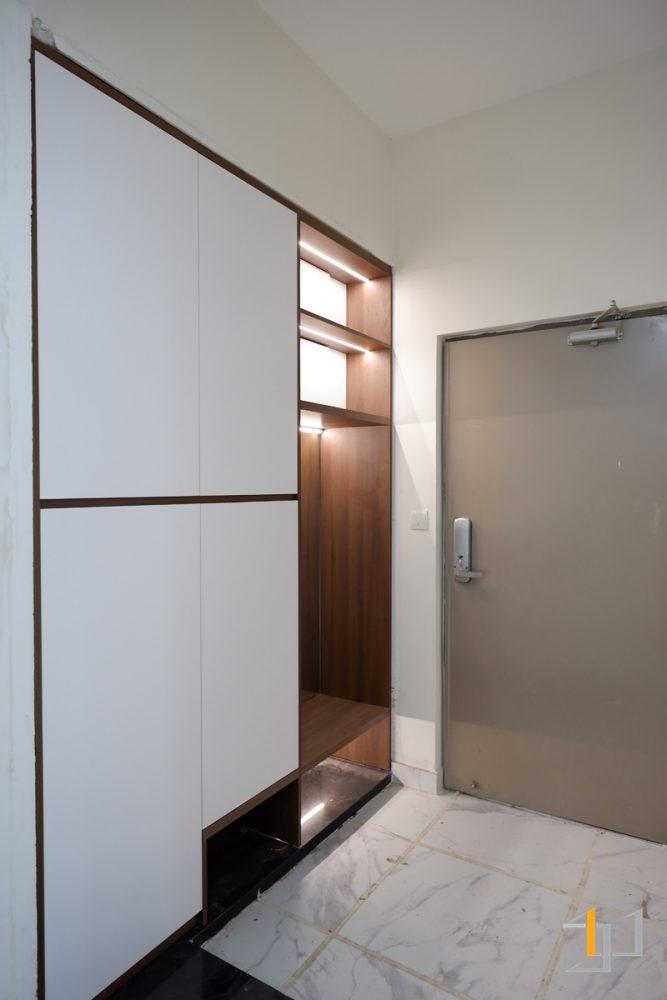 Thiết kế tủ giày chung cư