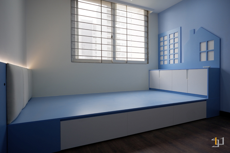 Thi công phòng ngủ con trai căn hộ 3PN Imperia Quận 2