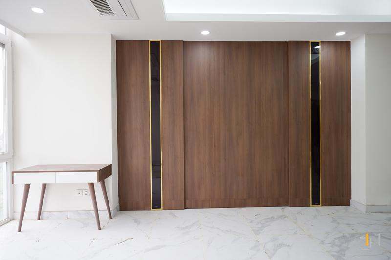 Thi công hoàn thiện nội thất phòng khách căn hộ 3PN Imperia An Phú