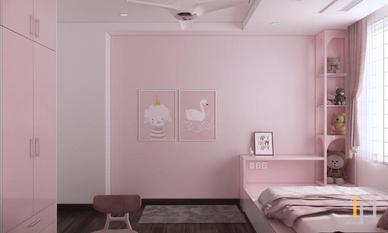 Nội thất phòng ngủ bé gái đẹp