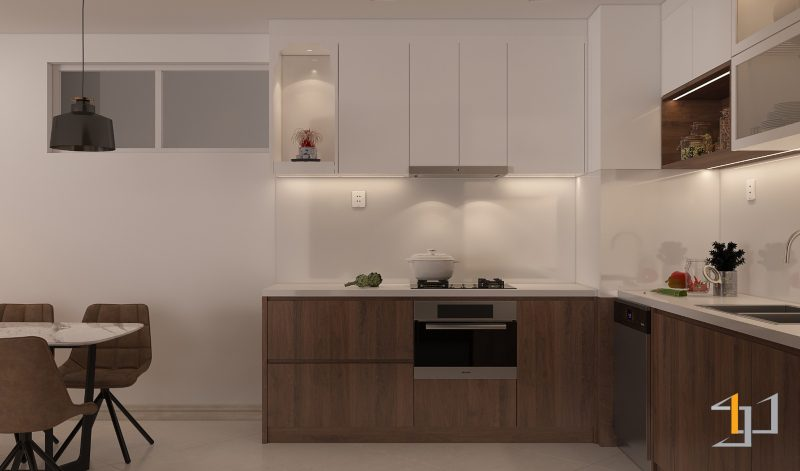Bố trí nội thất phòng bếp đẹp