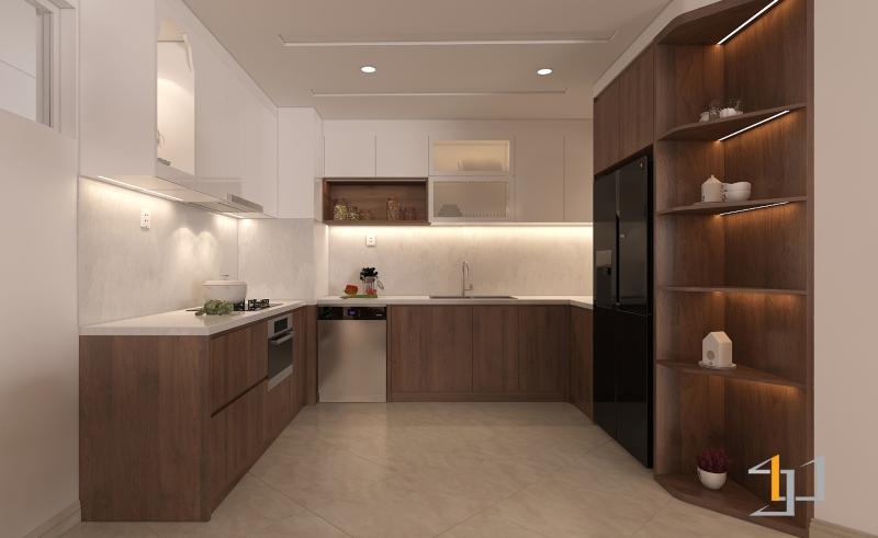 Thiết kế tủ bếp đẹp chung cư