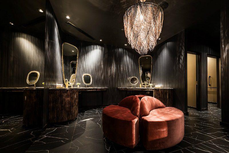 Phòng restroom sang trọng trong thiết kế nội thất nhà hàng chuyên nghiệp