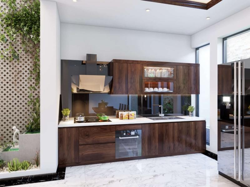 Thiết kế tủ bếp đẹp hình chữ I