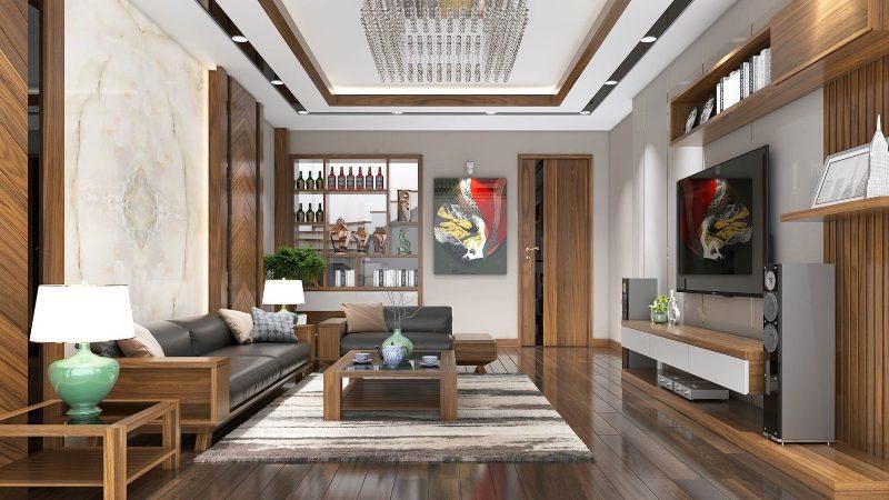 Thiết kế nội thất nhà liền kề phong cách đương đại