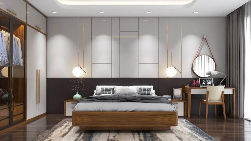 Thiết kế nội thất phòng ngủ phong cách Contemporary