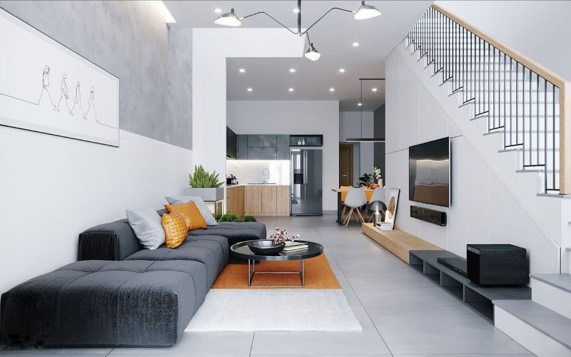 Lựa chọn màu sắc thiết kế nội thất nhà liền kề