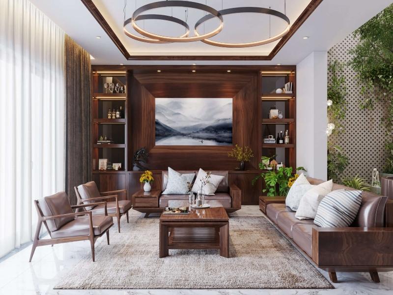 Thiết kế nội thất nhà liền kề phong cách hiện đại