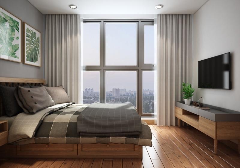 Bố trí giường kết hợp ngăn kéo chứa đồ tiện lợi