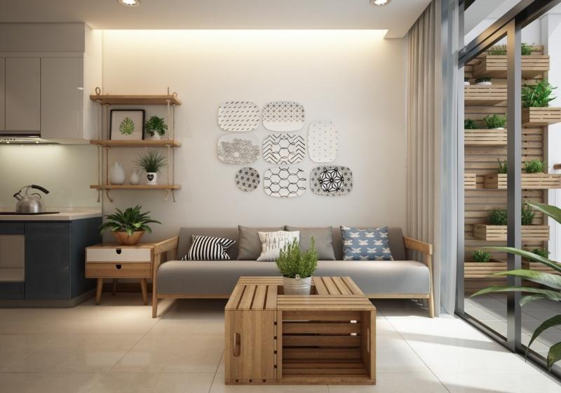 Thiết kế phòng khách phong cách Scandinavian