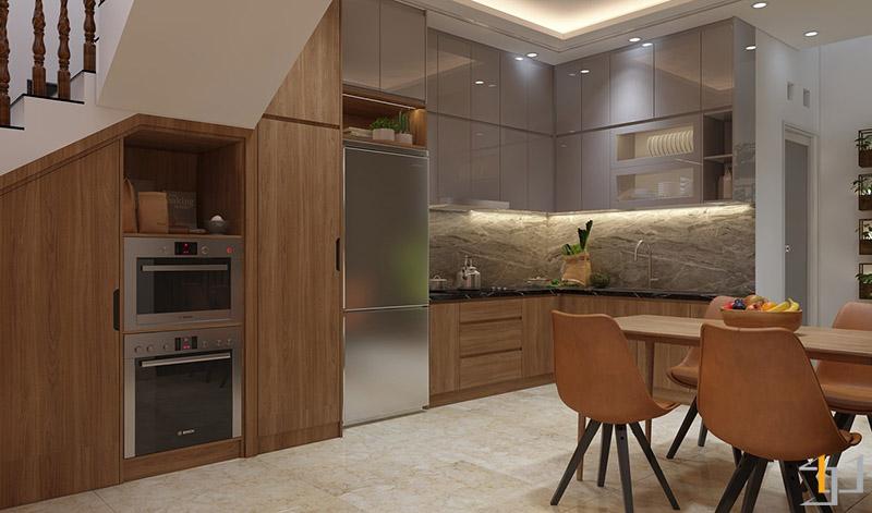 Thiết kế nội thất tủ thiết bị bếp
