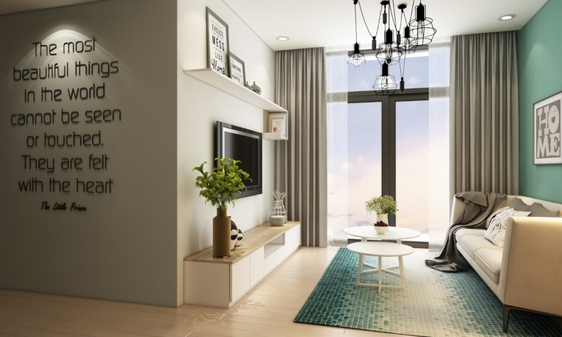 Ánh sáng trong thiết kế nội thất nhà nhỏ