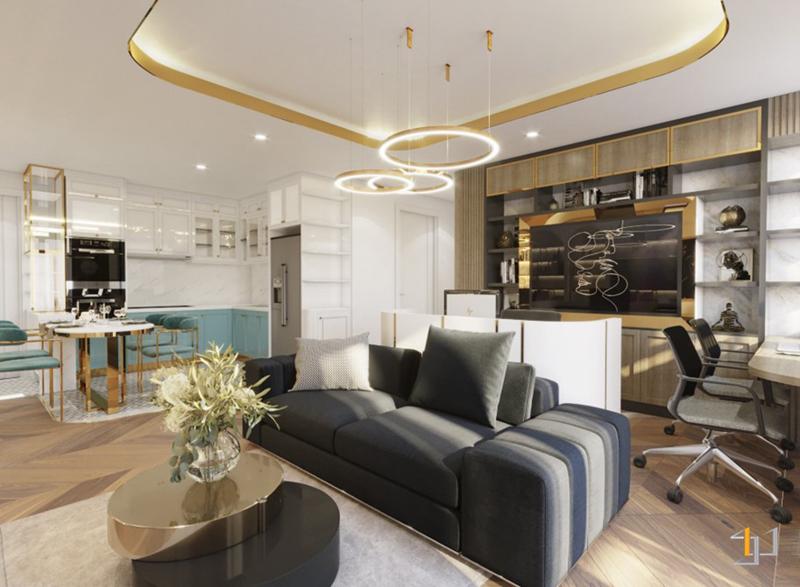 Thiết kế nội thất phòng làm việc phòng khách