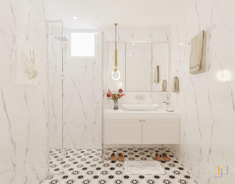 Thiết kế nội thất tủ lavabo tân cổ điển