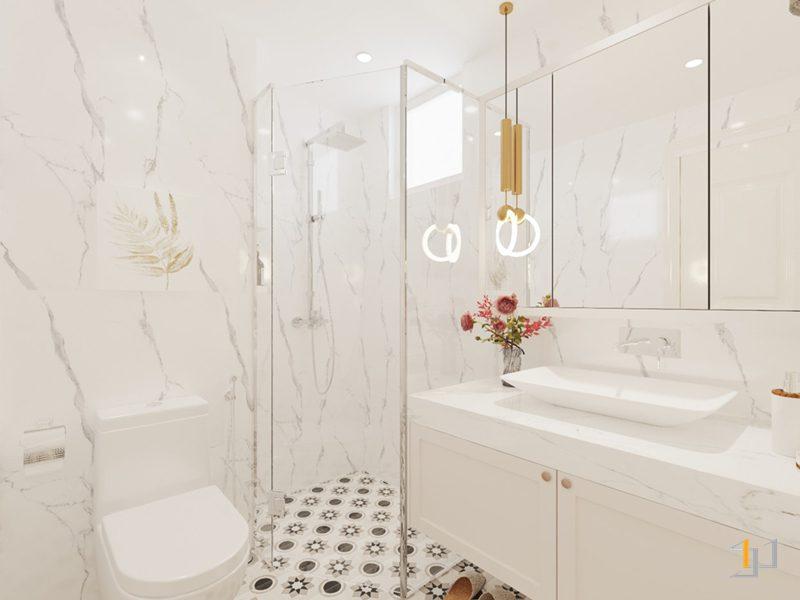 Thiết kế nội thất vách kính phòng tắm chắc chắn