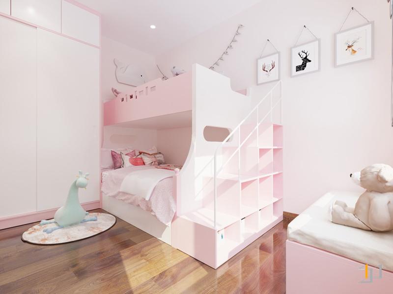 Thiết kế giường tầng trong phòng ngủ con gái