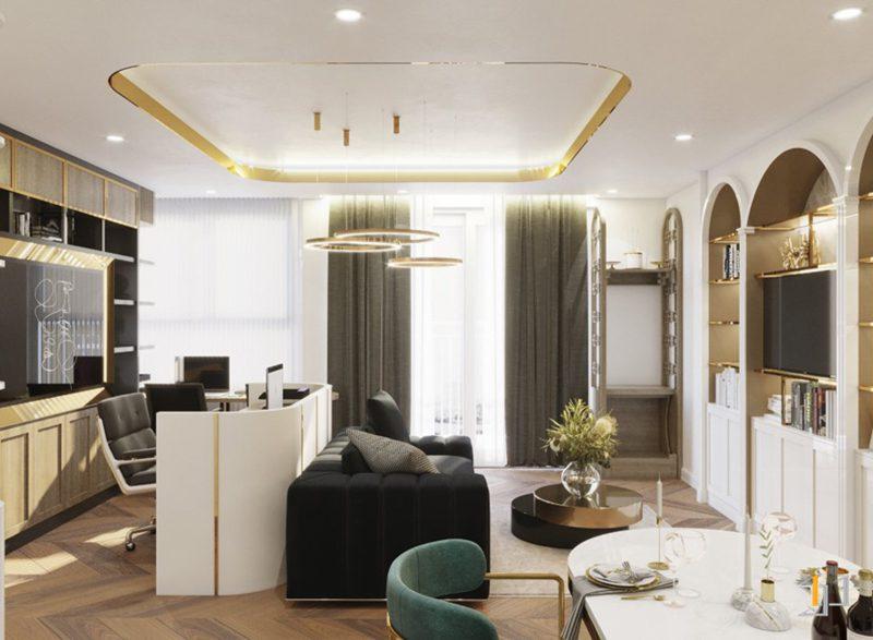 Thiết kế nội thất phòng khách tổng thể
