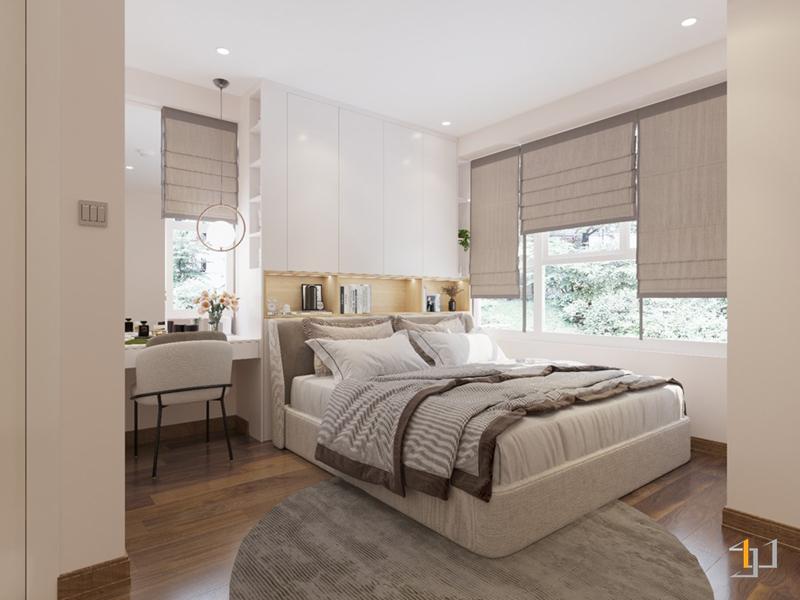 Thiết kế nội thất giường phòng Master