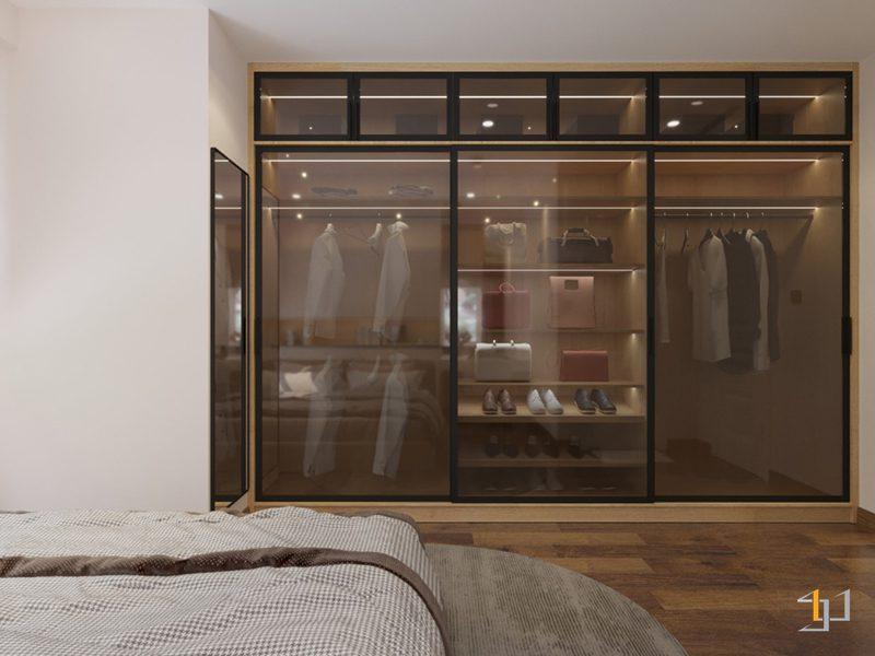 Thiết kế nội thất tủ quần áo phòng Master