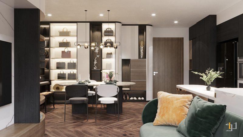 Thiết kế nội thất phòng khách và phòng ăn