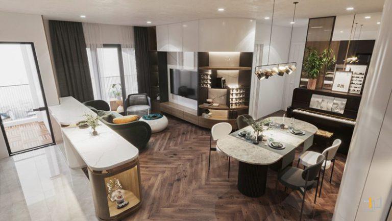 Thiết kế nội thất tủ Tivi và tủ trang trí tiện ích