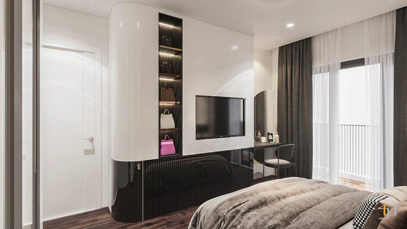 Thiết kế nội thất tủ Tivi âm tường